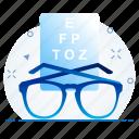 checkup, eye, test, view, vision icon