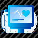 ecg, healthcare, heart, heartbeat, medical icon