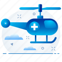 emergency, healthcare, helicopter, hospital, medical icon