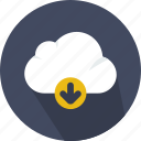 cloud, cloudy, computing, download, sky, weather icon