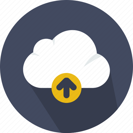 cloud, cloudy, computing, sky, upload, weather icon