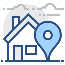 dwelling, home, locator, navigation, pin, direction, house