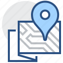 locator, map, navigation, pin, plan, location, pointer icon