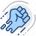 authority, fist, hit, power, punch, push, strike icon