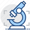 analysis, identification, investigation, microscope, research, science, study icon
