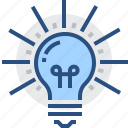 brainchild, concept, creativity, idea, intention, lightbulb, notion icon