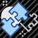 brainteaser, conundrum, mosaic, piece, puzzle, riddle icon