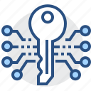 electronic, key, password, protect, safety, security, technology icon