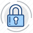 access, latch, lock, padlock, protection, safety, security icon
