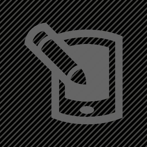 pen, smart phone icon