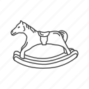 boardgames, games, horse, monopoly, monopoly games, rocking horse, toy icon
