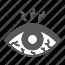 eye, sore, redness, allergy, disease, sclera, irritant icon