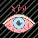 eye, sore, redness, allergy, disease, sclera, irritant