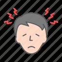 headache, head, pain, stress, migraine, fever, flu