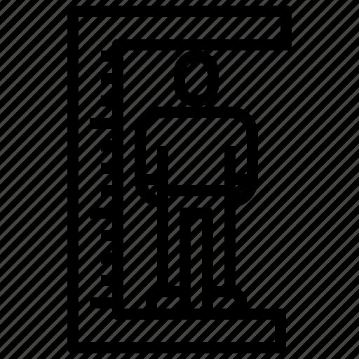 big, fat, man, ruler, tall, wellness icon