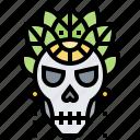 bohemian, boho, death, skeleton, skull