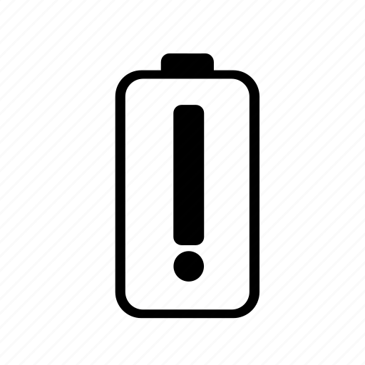 Battery, battery caution, battery trouble, caution icon - Download on Iconfinder