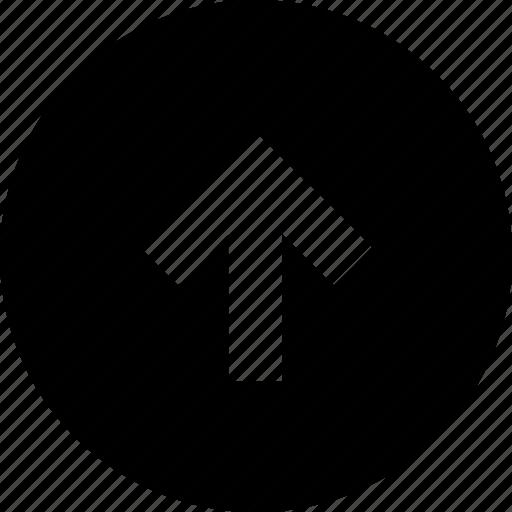 arrow, arrows, circle, direction, move, navigation, up icon