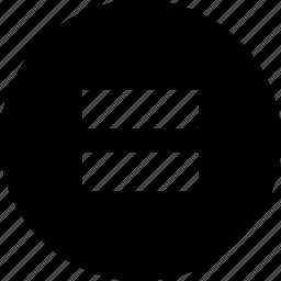 circle, equals icon
