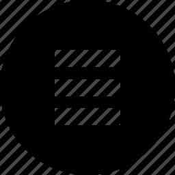 circle, menu, nav, navigation icon