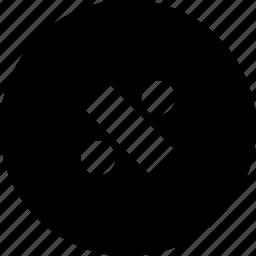 circle, division, modulus, percent, rate icon