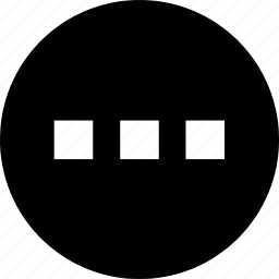circle, direction, expand, horizontal, more, navigation icon