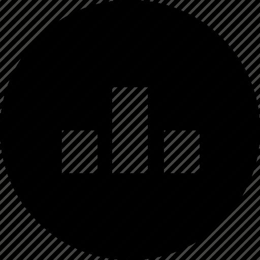 analysis, analytics, bar, chart, circle, graph, statistics icon