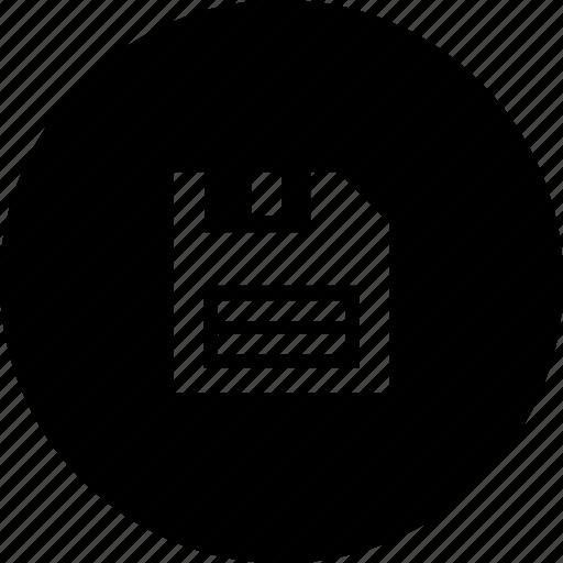 circle, data, disk, file, save, storage icon