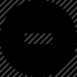 cancel, circle, delete, drop, remove, substract icon