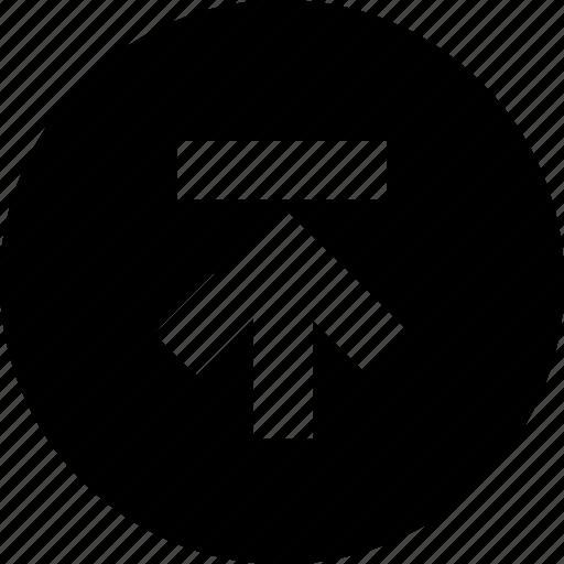 circle, data, document, file, upload icon