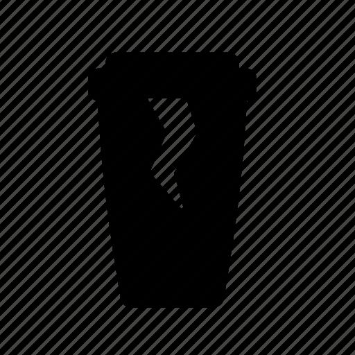 broken plastic cup, coffee, cup, damage cup, damaged plastic cup icon