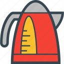electric, hot, kettle, teapot, water icon