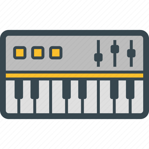 electronic, keyboard, music, piano icon