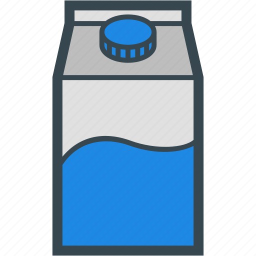 beverage, milk, packaged, tetrapack icon