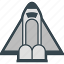 rocket, shuttle, space, spacecraft, spaceship icon