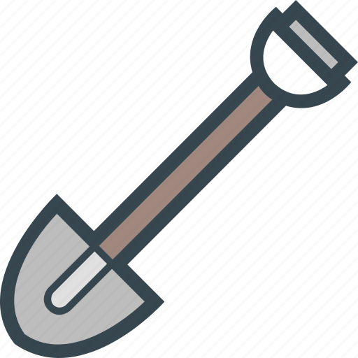 Equipment, construction, shovel, gardening, spade icon