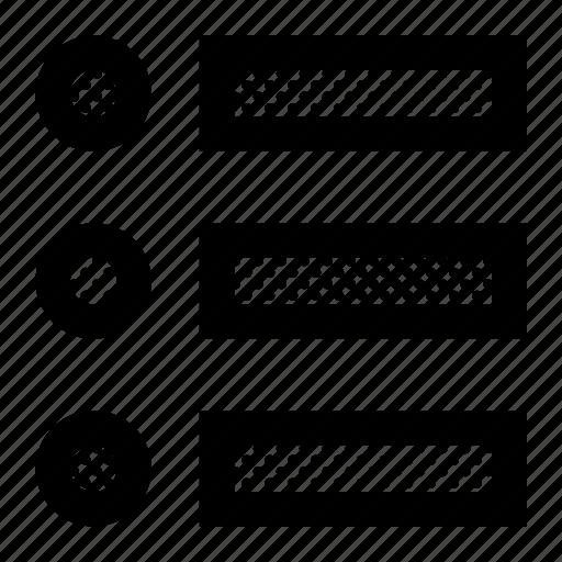 bullet, list, menu, options, order icon