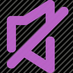 disabled, music, speaker, tone, voice, volume icon