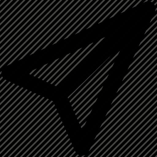flight, freelance, paper, plane, send icon