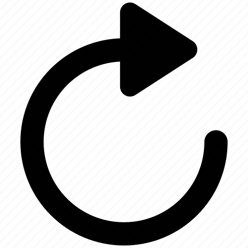 arrow, redo, reload, renew, rotate, rotation, turn, update icon