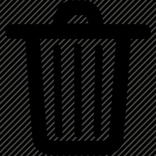ashbin, bin, del, delete, deletion, garbage, litter-bin, recycle, removal, remove, rubbish, trash, trashcan, waste icon
