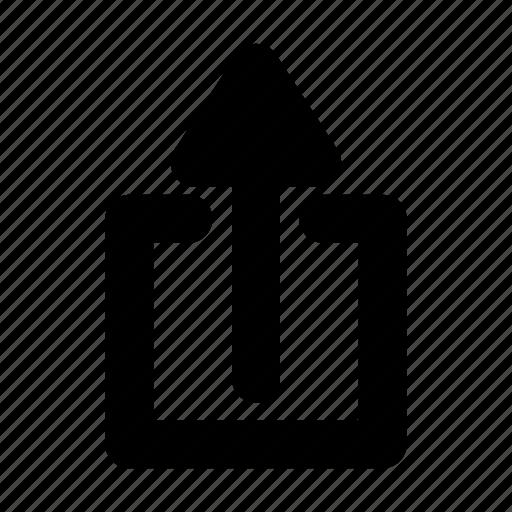 arrow, load, up, upload, uploading, upward, upwards icon