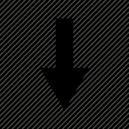 arrow, below, down, download, lower, save, under icon