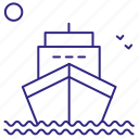 boat, ship, transport, turism, voyage, water icon