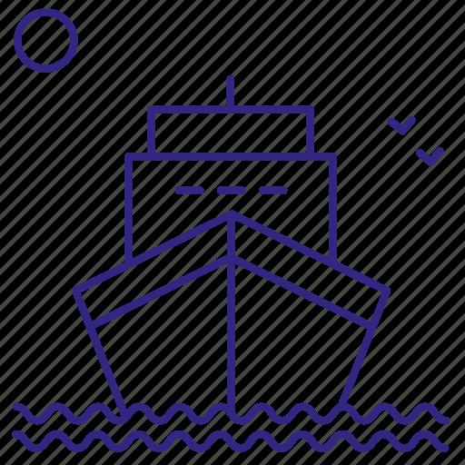 boat, ship, transport, turism, voyage, water icon