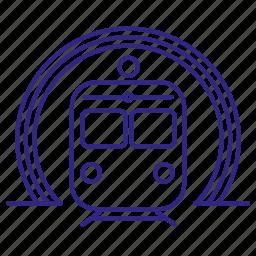 railroad, tourism, train, transport, tunel icon