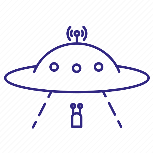 alien, paranormal, saucer, space, spaceship, transport, ufo icon