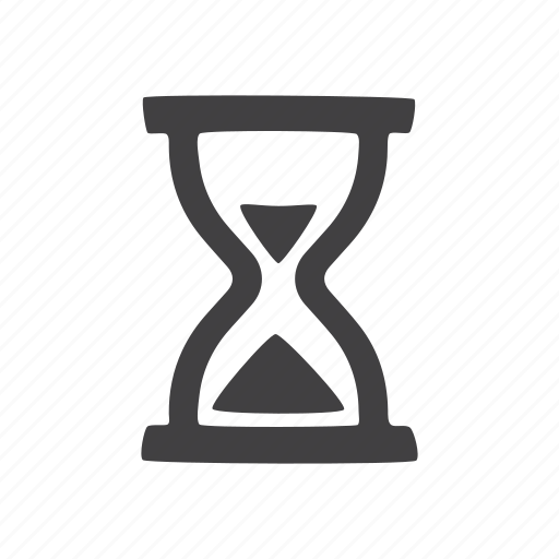 hourglass, sand, timer, watch icon
