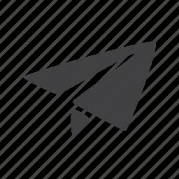 flight, paper, plane icon