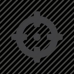 aim, archery, bullseye, focus, goal, target icon